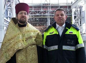 Отец Димитрий и А.И.Комаров на Первоуральском новотрубном заводе